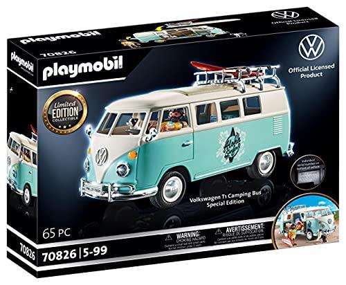 PLAYMOBIL Volkswagen 70826 VW T1 Camping Bus - Edición Especial, A partir de 5 años