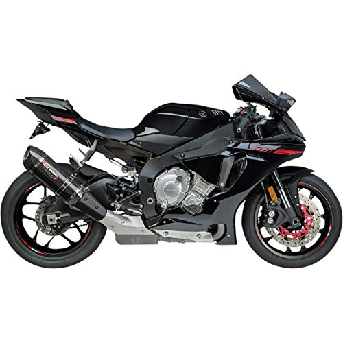 Yoshimura Alpha Slip-On Exhaust (Signature/Stainless Steel/Carbon Fiber/Carbon Fiber) Compatible with 15-18 Yamaha YZF-R1