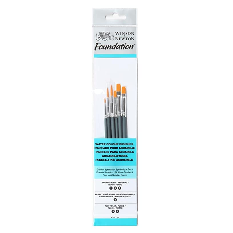 Winsor & Newton - Water Colour Brushes (SHORT HANDLE) - Pack of 6