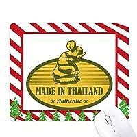 タイ製タイ税関の文化 ゴムクリスマスキャンディマウスパッド