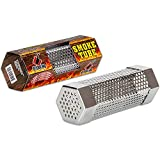 Butcher BBQ 6 inch Smoker Tube Good for 2-3 Hours of Smoking - Stainless Steel - Use On Charcoal, Pellet, Wood, Gas or Electric Grill - Great for Meat, Fish, Cheese, Nuts, and Salt