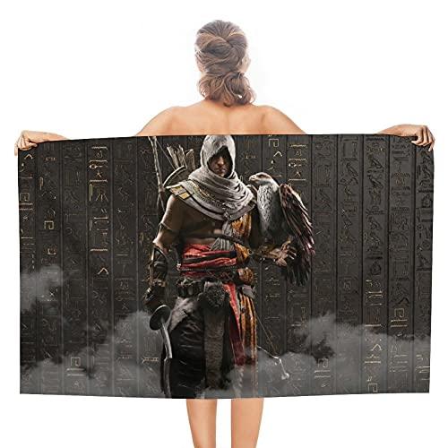 Assassin's Creed Toallas de baño suaves absorbentes para el baño, secado rápido, toalla de playa de gran tamaño para mujeres y hombres