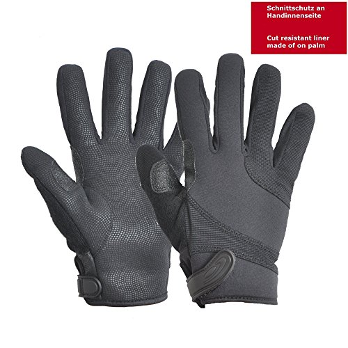Hatch SGK100 Street Guard Glove w/Kevlar, Black, Xsmall