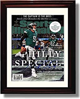 Framed Nick Foles Philly Special Championship Sports Illustrated Autograph Replica Print