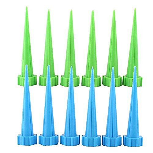 Jocestyle 12PCS Automatic Garden Watering Spike Water Control Drip Cone Plant Flower Waterer Bottle Irrigation