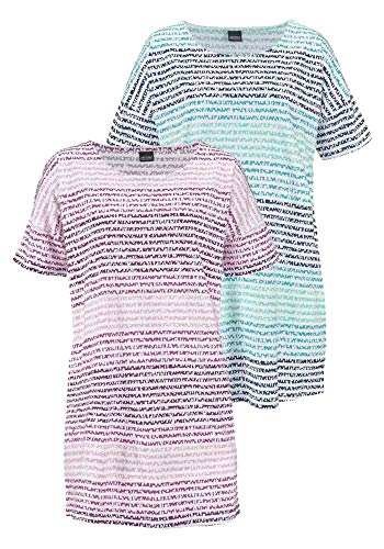 Arizona Damen Nachthemd (2er Pack) (Striped, 32/34 (XS))