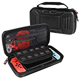 HIGOPLAY Switch Case Carry Case Compatible with Nintendo Switch, Protective Hard Portable Travel Carry Case Shell Pouch Carrying Case for Nintendo Switch Console and Accessories (Black)