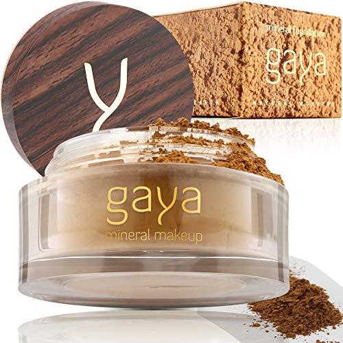 Mineral Foundation Make Up Puder – Vegane Professionelle Natürliche Full Coverage Hochdeckendes Makeup Powder für empflindliche Haut (Schattierung MF6)