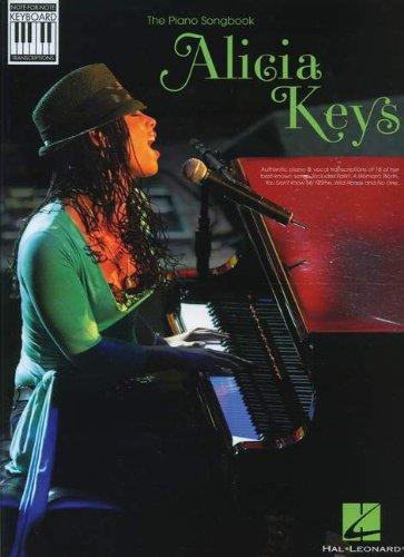 Alicia Keys: Note-For-Note Keyboard Transcriptions. Für Klavier, Gesang