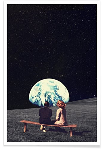 "JUNIQE® Planeten Poster 40x60cm - Design ""We Used to Live There"" entworfen von Frank Moth"