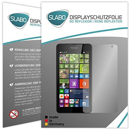 Slabo 2 x Displayfolie für Microsoft Lumia 535 Displayschutzfolie Zubehör No Reflexion MATT