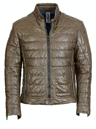 Offset Lederjacke mit Steppung 5625-300 5407 (Green, 50)