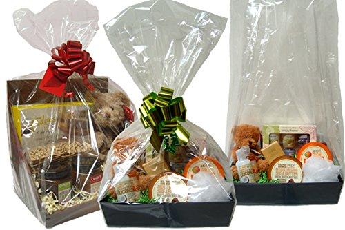 Doorzichtige mandjes van cellofaan - Zoet display - Geschenkmand mand inpakken - Geschenkverpakking (Maat A - 21x16x60cm hoog - pak van 10)