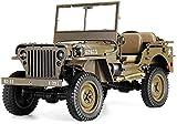 UIGJIOG Coche con Control Remoto eléctrico RC 1/6 Jeep Willys 1941 MB Scaler Modelo de Escalada