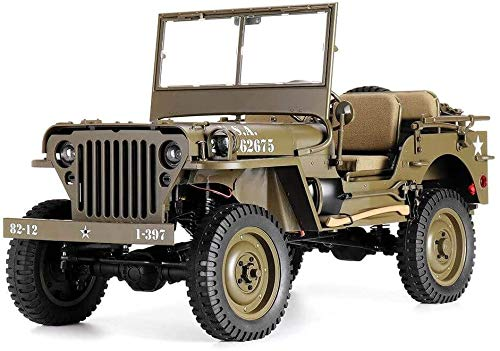 UIGJIOG Electric Remote Controlled Car RC 1/6 Jeep Willys 1941 MB Scaler Model Car Climbing