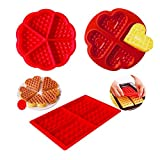 2 Pezzi Stampo Waffle Silicone, Morbido Cupcake Muffin teglia, Stampo Silicone Antiaderente, Vassoio di Silicone, Stampo per Fare Il Cioccolato Candy Muffin Cupcake Brownie Cake Pudding Baking Cookie