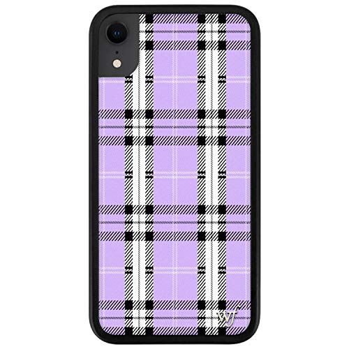 Wildflower Limited Edition Cases Compatible with iPhone XR (Lavender Plaid)