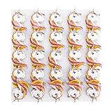 25 piezas de plástico para el pecho, broche de guitarra eléctrica, baterías AG3, con lindo broche de elemento de dibujos animados, para apreciar la colección de(unicorn)