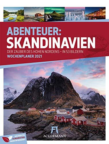 Skandinavien - Wochenplaner Kalender 2021, Wandkalender im Hochformat (25x33 cm) - Norwegen, Schweden, Finnland, Dänemark, Island - Wochenkalender