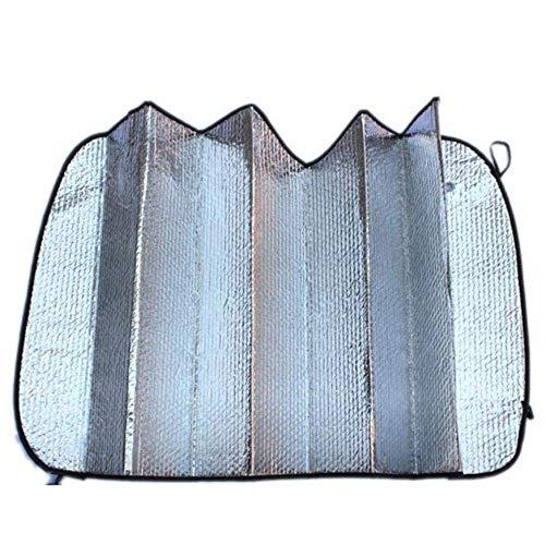 AYCPG 1PC 140CM * 70CM UV Protect ventanilla del Coche automático Cubierta del Parabrisas sombrilla sombrilla Parasol Frontal de reversa for el Coche, la Plata, lucar (Color : Silver, Size : China)