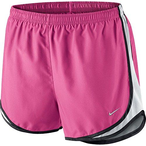 Nike Women's Tempo Short, Vivid Pink/White/Black/Matte Silver, LG X 3.5