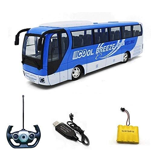 YIQIFEI Niños Control Remoto Autobús Coche de Juguete Autobús Coche Eléctrico Juguete Inalámbrico Coche RC Recargable Dinámico Modelo de Coche Grande Bus Truco (Coche RC)