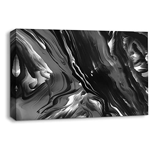NWT Canvas Wall Art Abstract Black and White Painting Artwork for Home Prints Framed