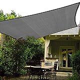 HAIKUS Toldo Vela Rectangular 2x3 m, Vela de Sombra 3x2 m HDPE, Transpirable, Resistente, 95% Protección Rayos UV para Exterior, Jardín, Terrazas (Grafito)