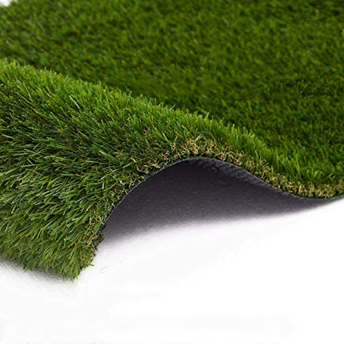 ZET Artificial Grass 7' x 13' (91 Square ft) Realistic Fake Grass Deluxe Grass Thick Lawn Pet Turf Carpet, Perfect for Indoor/Outdoor Landscape - 35mm Pile Height