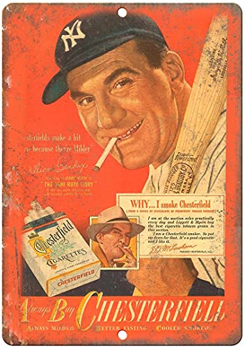 """Chesterfield Cigarette Vintage Tobacco Ad 10"""" x 7"""" Reproduction Metal Sign Y55"""