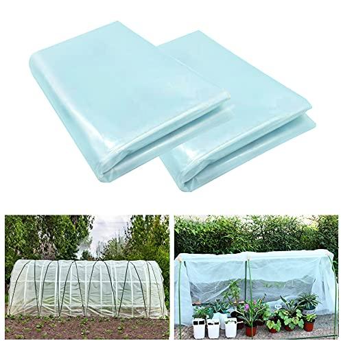 SHANGXING 2 Pack Greenhouse Clear Plastic Film-6.5...