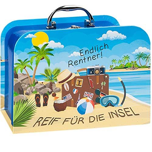 alles-meine.de GmbH Kinderkoffer / Koffer - GROß - Reif für die Insel - endlich Rentner ! - für Spielzeug und als Geldgeschenk - Mädchen & Jungen - Kinder & Erwachsene - Pappe Ka..