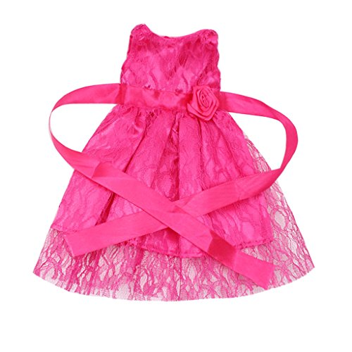 MagiDeal Süße Puppenkleidung Einteiliges Kleid Für 18 Zoll Puppen - 3