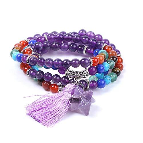 YOLANDE Vrouwen Armband Amethist Chakra Armband Yoga Vrouwen Sieraden Natuurlijke Kristallen Armband Verjaardag Sieraden Gift voor Vrouwen
