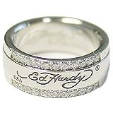 Ed Hardy(エドハーディー) エドハーディ リング ペア 指輪 ダイヤモンドCZ ロゴ メンズ レディース ジュエリー ステンレス アクセサリー EDHARDY 9299 EHRSSCZ0002