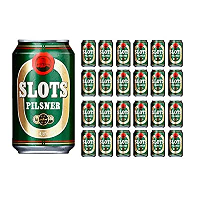 Slots Pilsner Alc. 4,6% Vol. 24x 330 ml - dänisches Pilsener