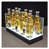 LINANNAN Ice Bucket Transparente Acrílico Luminoso Cubo de Hielo Rectangular Champagne Tinto Vino Cóctel Cubo de Hielo para la Barra de Casas, Cerveza fría, Champagne y Vino
