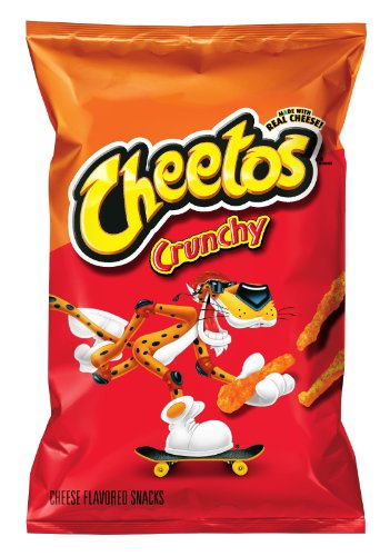 Cheetos Cheese Snacks, Crunchy, 3.25 Ounce (Pack of 28)