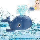 Juguetes de Baño, Juguetes Niños para Bebe 6-12 Meses 1 2 3 4 Años, Ballena Agua Piscina Juguetes Regalos Baby Bath Toys Whale (Azul Marino)