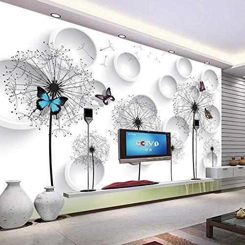 Fotobehang Fotobehang Thuis Aangepaste Fotobehang Moderne 3D Cirkels Paardebloem Woonkamer TV Achtergrond Muren Interieur Decoratie Beeld Schilderen