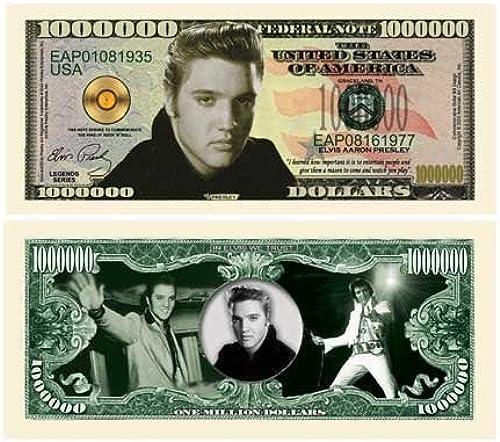 (5) Elvis Presley Million Dollar Bill by www.AmericanArtClassics  by www.AmericanArtClassics