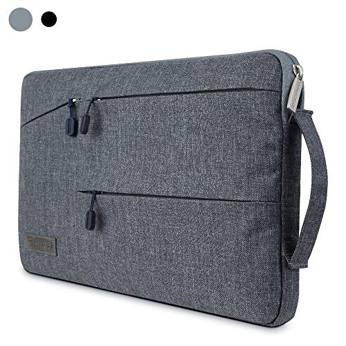 WIWU 15.6 inch Laptop Sleeve Case Precise Fit for Laptops and Ultrabooks with a 15.6 inch Display,Notebook Protective Case Cover with Accessory Pocket - Gray