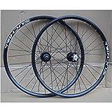 Accesorio de bicicleta de ejes de liberación rápid MTB Set de ruedas de bicicleta 26 pulgadas Doble pared llanta COVIDOR SELLADO HUB Freno de disco QR para 8-10 Velocidad Cassette Flywheel Rueda de bi