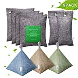 EletecPro 9 Pack Natural Bamboo Charcoal Air Purifying Bags (7 x 200g)