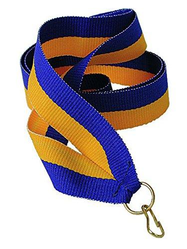 pokalspezialist Medaillenband blau/gelb 22mm breit 10 Stück