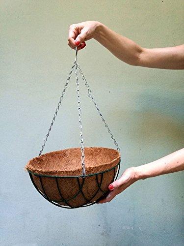 Pokugiardini, Blumenampel HANGING BASKET,Hängekorb inkl. Kokoseinsatz - Ø 30 cm
