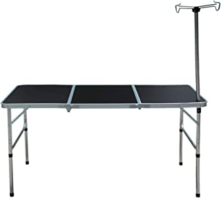Camp Field Camping Table with Adjustable Legs for Beach, Backyards, BBQ, Party and Picnic Table … (XX-Large)
