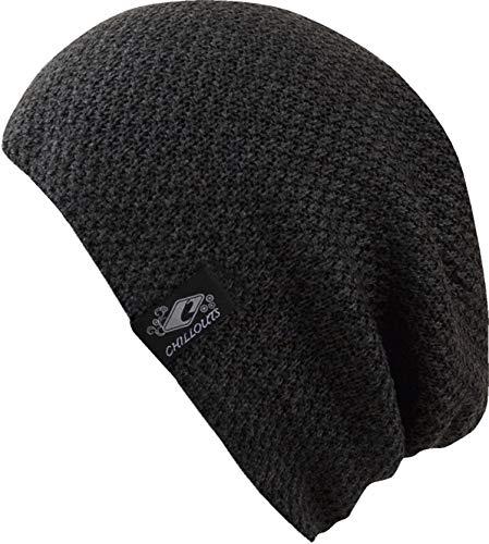 CHILLOUTS Osaka Beanie hochwertige Hüte Mützen und Caps für Herren Damen und Kinder - Kopfbedeckung in 4 Farben, Farbe:Dark Grey (OSA 01)