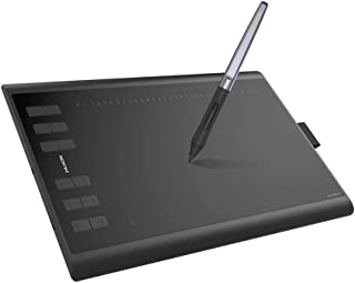 Huion H1060P OTG Graphics Drawing Tablet 8192 Pen Pressure Tilt Function Battery-Free Stylus for Android