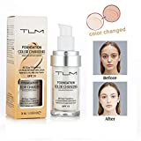 TLM Liquid Foundation Cream,Warm Skin Tone Concealer Cover Cream,Flawless Colour Changing Foundation Makeup